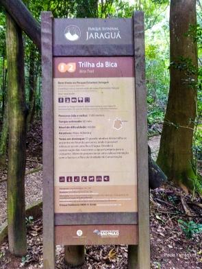 Placa da Trilha da Bica (Parque Estadual do Jaraguá, SP)
