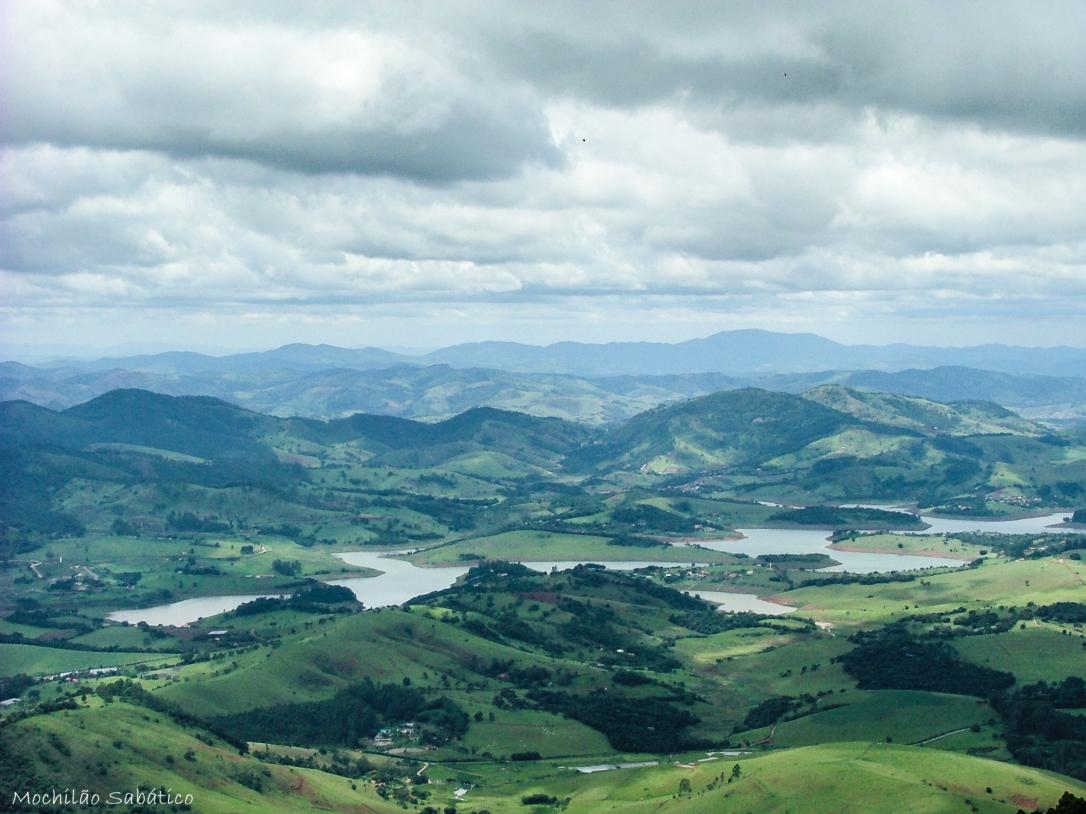 Vista da rampa de voo livre (Extrema, MG)