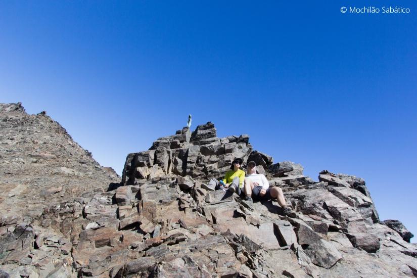 No topo da trilha Laguna Jacob - Rucaco (Parque Nacional Nahuel Huapi)