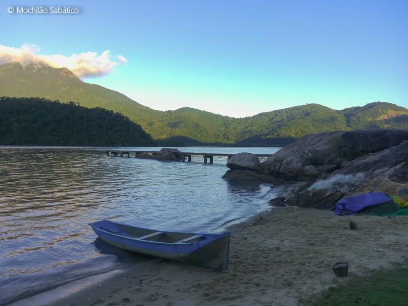 Última praia no saco do Mamanguá do lado de Paraty Mirim