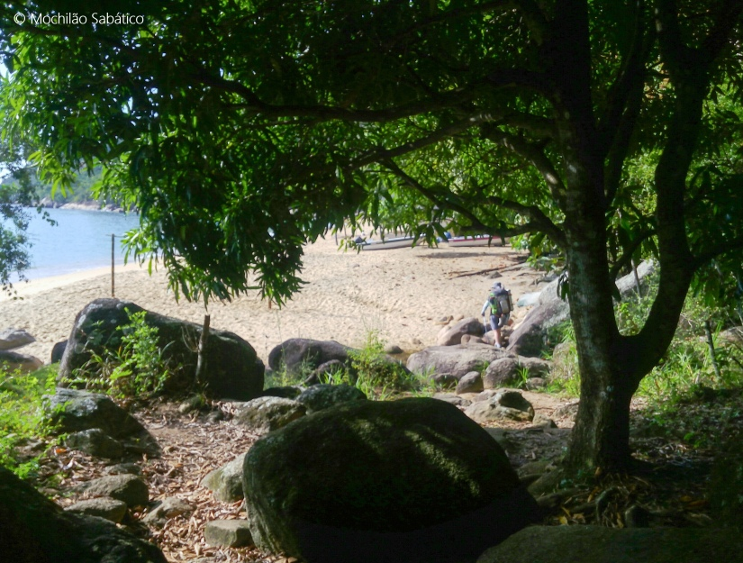 Chegando na praia de Itanema (Juatinga)