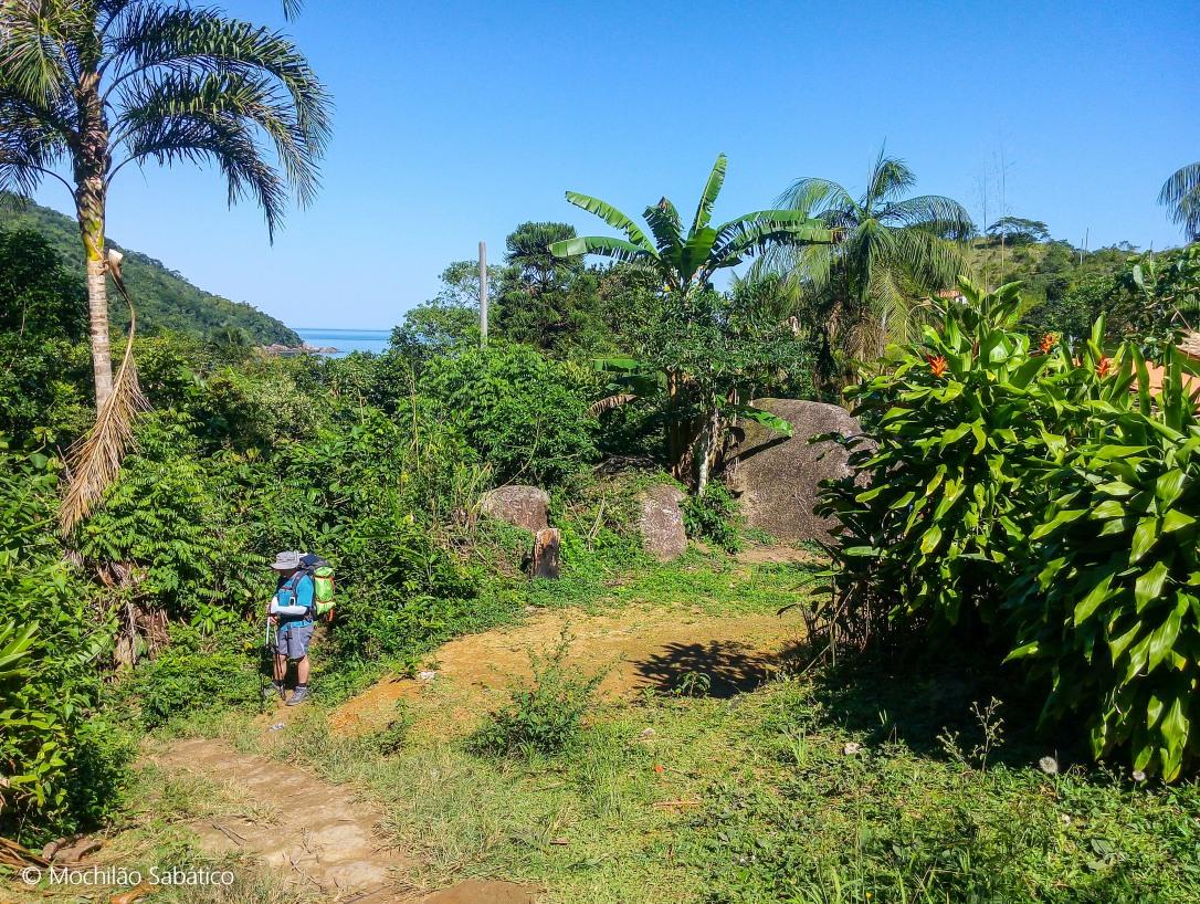 Final da trilha de Cairuçu das Pedras para Ponta negra