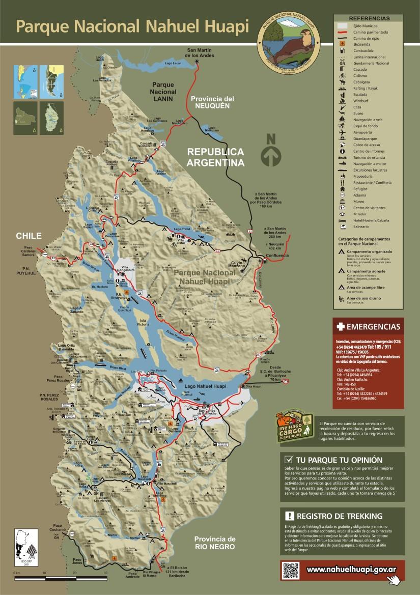 Mapa Parque Nacional Nahuel Huapi