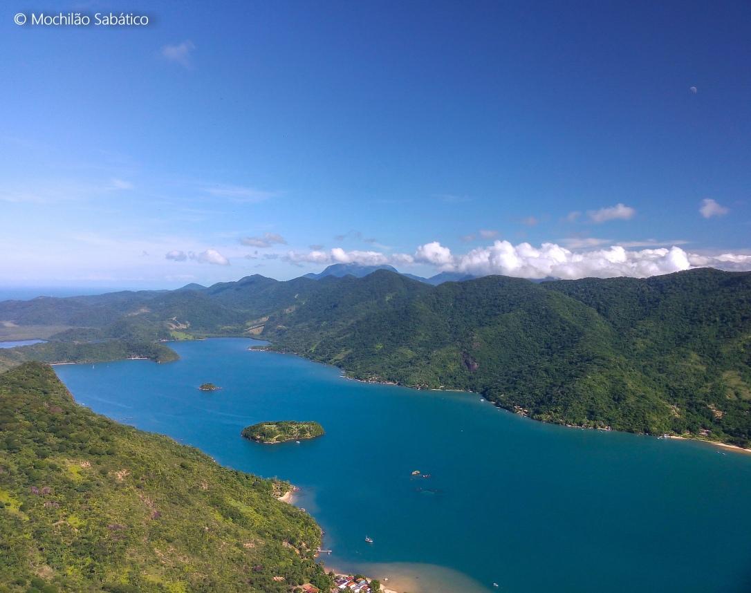 Vista do Saco de Mamanguá no Pico do Pão de Açúcar (Reserva Ecológica Juatinga, Paraty)