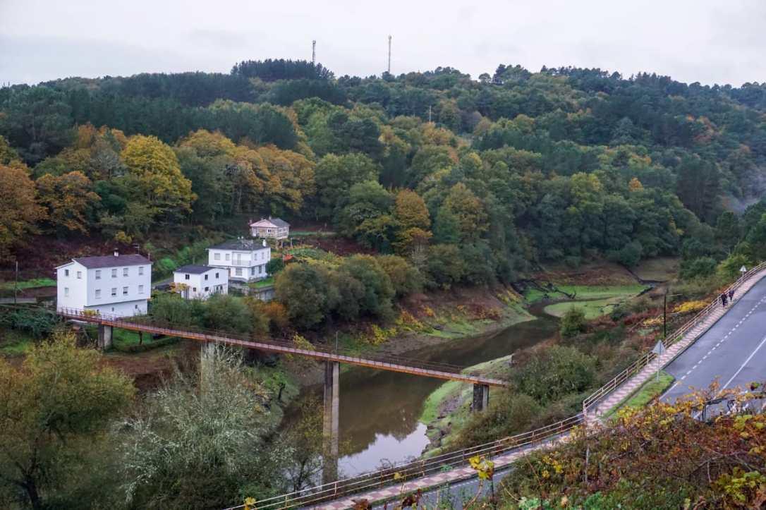 Portomarin rio Mino